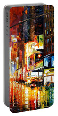 Times Square Portable Battery Charger by Leonid Afremov