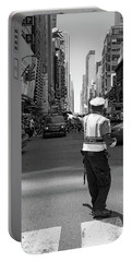 Times Square, New York City  -27854-bw Portable Battery Charger