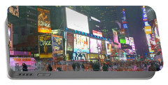 Times Square Red Rain Portable Battery Charger