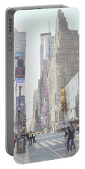 Times Square Street Scene Portable Battery Charger