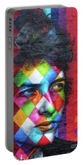 Times They Are A Changing Giant Bob Dylan Mural Minneapolis Detail 1 Portable Battery Charger