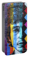 Times They Are A Changing Giant Bob Dylan Mural Minneapolis Detail 2 Portable Battery Charger