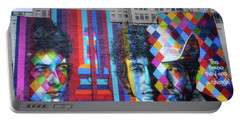 Times They Are A Changing Giant Bob Dylan Mural Minneapolis Fine Art Portable Battery Charger