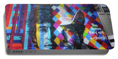 Times They Are A Changing Giant Bob Dylan Mural Minneapolis Getting Older Portable Battery Charger