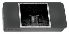 Tin Cup Chalice Lyrics With Wavy Border Portable Battery Charger by John Stephens