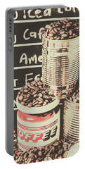 Tin Signs And Coffee Shops Portable Battery Charger