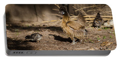 Portable Battery Charger featuring the photograph Tiny And Babies by Donna Brown