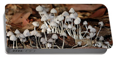 Portable Battery Charger featuring the photograph Tiny Corrugated Fungi By Kaye Menner by Kaye Menner