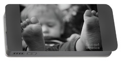 Portable Battery Charger featuring the photograph Tiny Feet by Robert Meanor