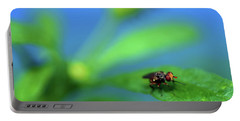 Tiny Fly On Leaf Portable Battery Charger