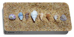 Tiny Seashells On The Sand Portable Battery Charger
