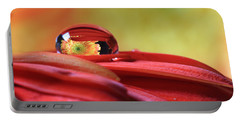 Tiny Water Drop Reflections Portable Battery Charger by Angela Murdock