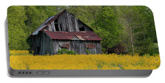 Tired Indiana Barn - D010095 Portable Battery Charger by Daniel Dempster