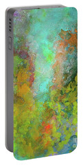 Title. Allegro Abyss. Abstract Acrylic Painting. Portable Battery Charger