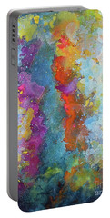 Title. Symphonic Nebula. Abstract Painting. Portable Battery Charger