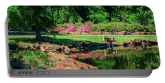 Taking A Break At The Azalea Pond Portable Battery Charger