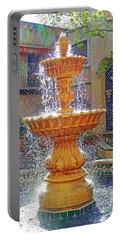 Tlaquepaque Fountain In Sunlight Portable Battery Charger