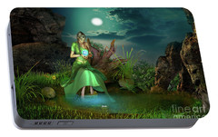 Portable Battery Charger featuring the digital art To Go Beyond by Shadowlea Is