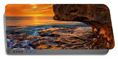 To God Be The Glory - Sunrise Over Ocean Reef Park On Singer Island Florida Portable Battery Charger