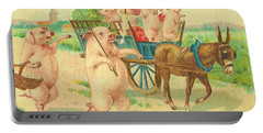 To Market To Market To Buy A Fat Pig 86 - Painting Portable Battery Charger