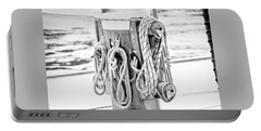 Portable Battery Charger featuring the photograph To Sail Or Knot by Greg Fortier