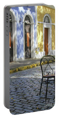 To Sit In Old San Juan Portable Battery Charger