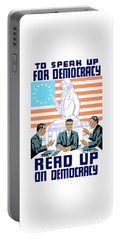 To Speak Up For Democracy Read Up On Democracy Portable Battery Charger