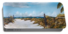 To The Beach Portable Battery Charger by Lloyd Dobson