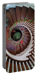 To The Bottom Of The Staircase Portable Battery Charger by Nicki McManus