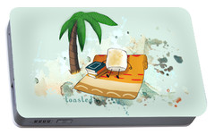 Portable Battery Charger featuring the digital art Toasted Illustrated by Heather Applegate
