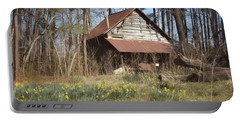 Portable Battery Charger featuring the photograph Tobacco Barn In Spring by Benanne Stiens