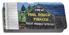 Portable Battery Charger featuring the painting Pennsylvania Tobacco Barn by Jeffrey Koss