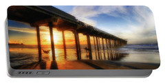 Together, Hammock Time, Scripps Pier, San Diego, California Portable Battery Charger