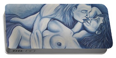 Portable Battery Charger featuring the painting Together by Michael  TMAD Finney