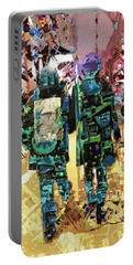 Portable Battery Charger featuring the painting Together by Tony Rubino