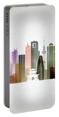Tokyo  Cityscape Portable Battery Charger by Dim Dom