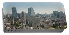 Tokyo Skyline Portable Battery Charger by Jacob Reyes