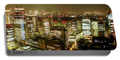 Tokyo Skyline Portable Battery Charger by Nancy Ingersoll