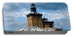 Portable Battery Charger featuring the photograph Toledo Harbor Lighthouse by Michiale Schneider