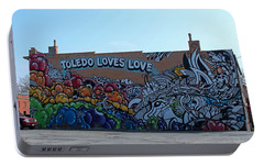 Portable Battery Charger featuring the photograph Toledo Loves Love by Michiale Schneider