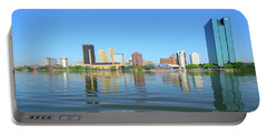 D12u-673 Toledo Ohio Skyline Photo Portable Battery Charger