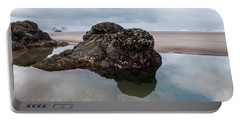 Tolovana Beach At Low Tide Portable Battery Charger