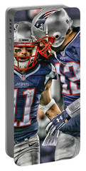 Tom Brady Art 1 Portable Battery Charger
