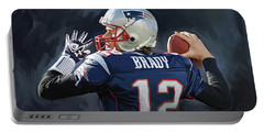 Tom Brady Artwork Portable Battery Charger