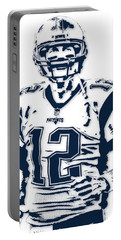 Tom Brady New England Patriots Pixel Art 6 Portable Battery Charger