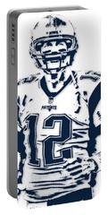Tom Brady New England Patriots Pixel Art 6 Portable Battery Charger
