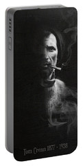 Tom Crean Antarctic Explorer - Dated Portrait Portable Battery Charger