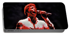 Tom Jones In Concert Portable Battery Charger by Anthony Dezenzio
