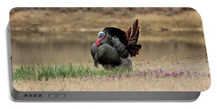 Tom Turkey At Pond Portable Battery Charger