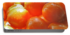 Portable Battery Charger featuring the photograph Tomato Tears by Barbara S Nickerson